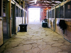 Barn Aisle looking out